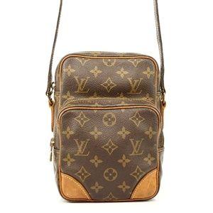 Auth Louis Vuitton Amazon Crossbody Bag #1848L18